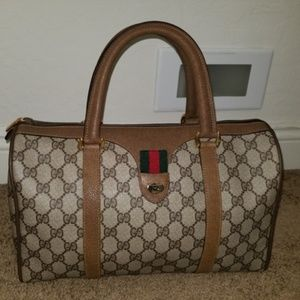 Vintage Gucci Monogram GG Boston Satchel